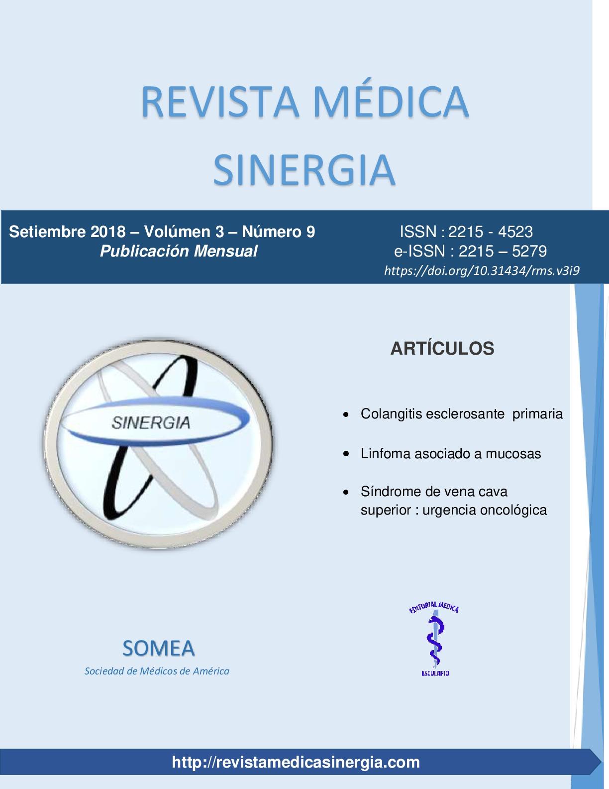 Síndrome de vena cava superior: urgencia oncológica | Revista Medica ...