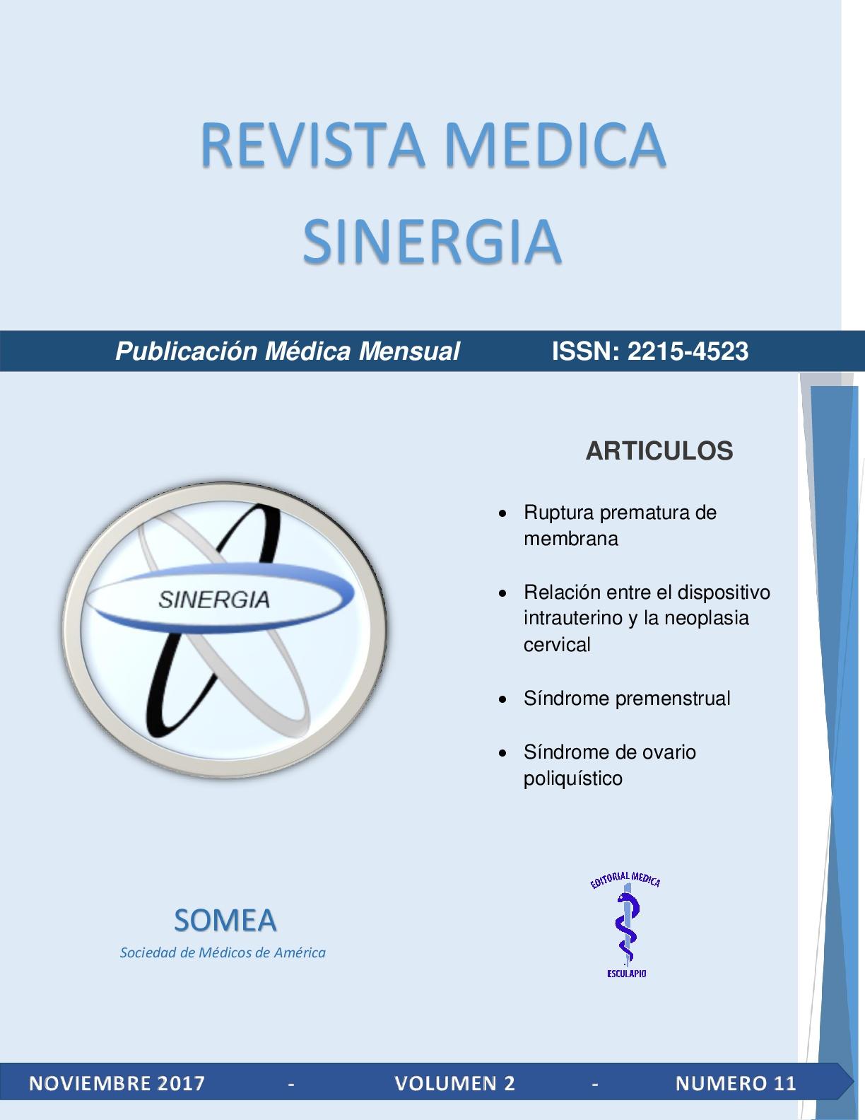 Portada de Revista Medica Sinergia